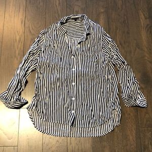 South Moon Under striped button down